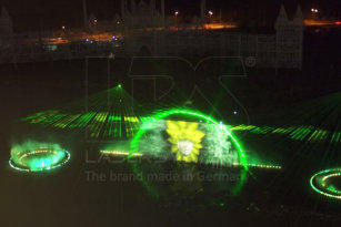 Permanent installation of laser show systems in Kangwon Land, South Korea